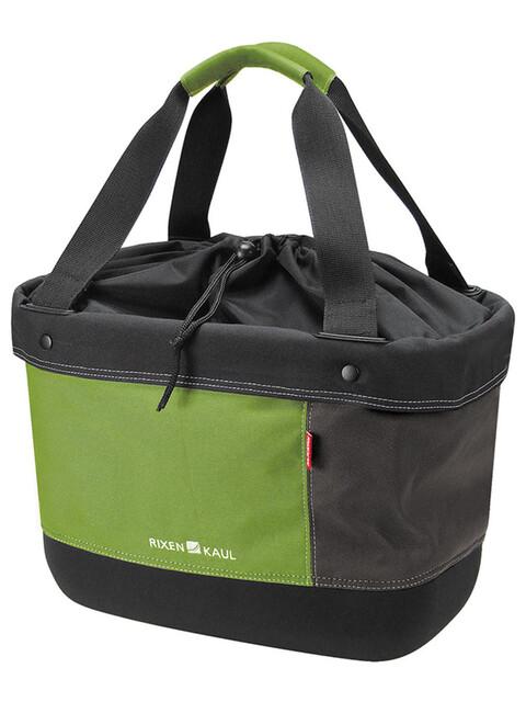 KlickFix Shopper Alingo - Bolsa bicicleta - verde/marrón